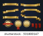 golden ribbon set. | Shutterstock .eps vector #531800167