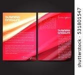vector brochure template design ... | Shutterstock .eps vector #531801547