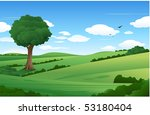 nature summer landscape | Shutterstock .eps vector #53180404