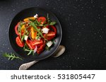 healthy salad on plate  food... | Shutterstock . vector #531805447