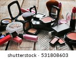 set of decorative cosmetics on... | Shutterstock . vector #531808603