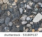 A Photograph Of Wet Rocks  At...