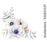 elegant watercolor flower... | Shutterstock . vector #531812137