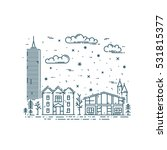 winter cityscape in trendy... | Shutterstock .eps vector #531815377