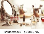 cosmetics on dressing table ... | Shutterstock . vector #531818707
