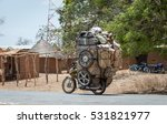 motorcycle carrying a lot of...   Shutterstock . vector #531821977