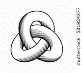triple mobius loop impossible... | Shutterstock .eps vector #531824377