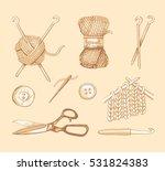 knitting illustrations. hand... | Shutterstock .eps vector #531824383