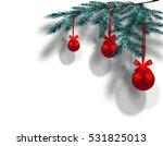 Blue Christmas Tree Branches O...
