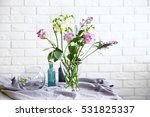 beautiful bouquet of flowers in ... | Shutterstock . vector #531825337