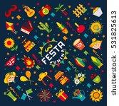festa junina village festival... | Shutterstock . vector #531825613