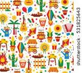 festa junina village festival... | Shutterstock . vector #531825643