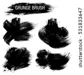 vector set of grunge brush... | Shutterstock .eps vector #531833647