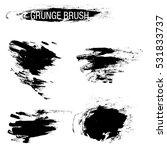 vector set of grunge brush... | Shutterstock .eps vector #531833737