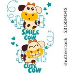smile cow cute cow | Shutterstock .eps vector #531834043