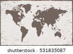 old map of the world.vector... | Shutterstock .eps vector #531835087