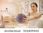 brunette woman on physical... | Shutterstock . vector #531839443