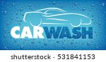 car wash design with many water ... | Shutterstock .eps vector #531841153