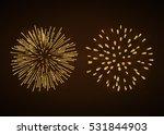 fireworks set gold isolated.... | Shutterstock .eps vector #531844903