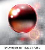 red glass sphere. transparent...   Shutterstock .eps vector #531847357