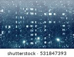 winter landscape in the city. | Shutterstock . vector #531847393