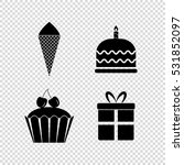 dessert  vector icon set | Shutterstock .eps vector #531852097