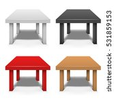 small coffee table isolated on...