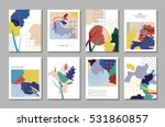 collection of artistic cards... | Shutterstock .eps vector #531860857