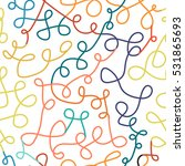 colorful curly seamless pattern.... | Shutterstock .eps vector #531865693