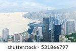 Hong Kong From Above. Panorama...