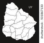 uruguay departments map black...   Shutterstock .eps vector #531867133