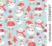 vector holidays pattern of... | Shutterstock .eps vector #531868567