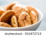 italian amaretti biscuits in... | Shutterstock . vector #531872713