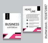 vector brochure flyer design... | Shutterstock .eps vector #531872887