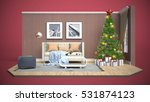 christmas tree with decorations ... | Shutterstock . vector #531874123