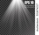 vector isolated spotlight.... | Shutterstock .eps vector #531876217