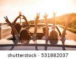 group of happy young friends in ... | Shutterstock . vector #531882037