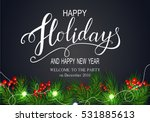 holidays greeting card for... | Shutterstock .eps vector #531885613