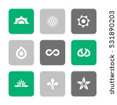 vector flat icons set   nature...   Shutterstock .eps vector #531890203