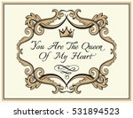 valentines day card. frame with ... | Shutterstock .eps vector #531894523