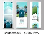roll up banner stands  flat... | Shutterstock .eps vector #531897997