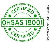grunge green ohsas 18001... | Shutterstock .eps vector #531898387