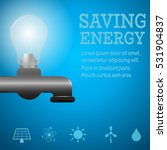 saving energy home concept... | Shutterstock .eps vector #531904837
