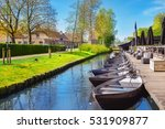 Boats In Spring In Giethoorn  ...