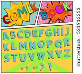 colorful comic book font in a