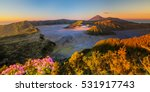 Panoramic Of Mt.bromo East Jav...