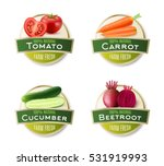 organic farm fresh vegetables 4 ... | Shutterstock .eps vector #531919993