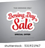 boxing day sale banner | Shutterstock .eps vector #531921967