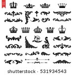 ornate scroll and decorative... | Shutterstock .eps vector #531934543