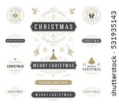 christmas labels and badges... | Shutterstock .eps vector #531935143